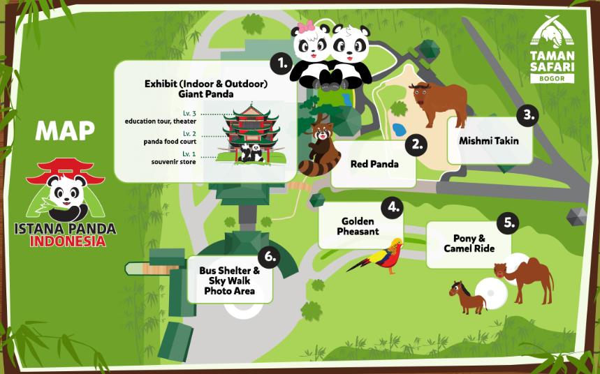 Peta Map Istana Panda